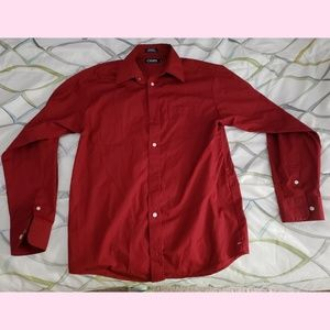 Chaps formal red button up boys